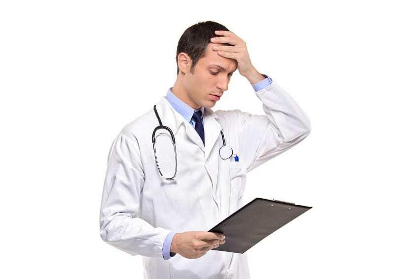 negligencia médica por error
