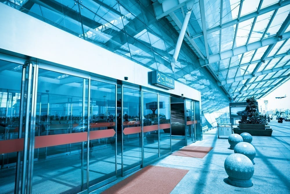 puertas automáticas centro comercial